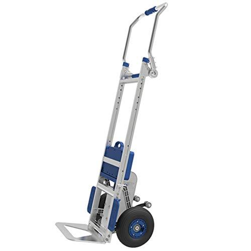 CHRYS Carretilla de Mano y Carro eléctrico para Subir escaleras, Carretilla de Mano Plegable Motor sin escobillas de 400 W- Batería de 48 V- Cubierta Protectora- Cojinete de 170 kg / 2 Ruedas