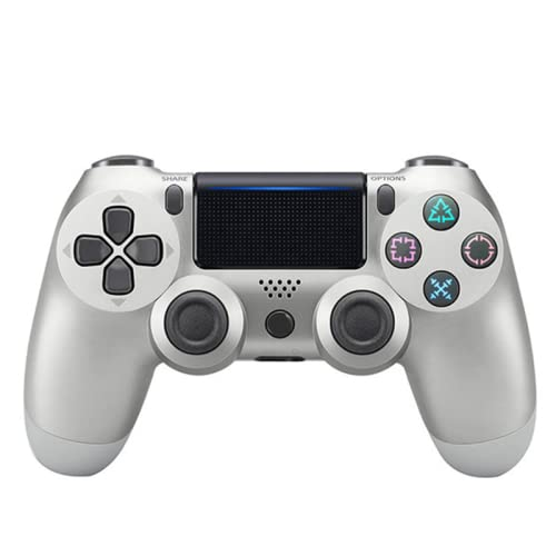Inalámbrico para PS4 Game Controller Bluetooth Gamepad con Joystick de Juego de Vibración Dual, Indicador LED Cable USB,Gray