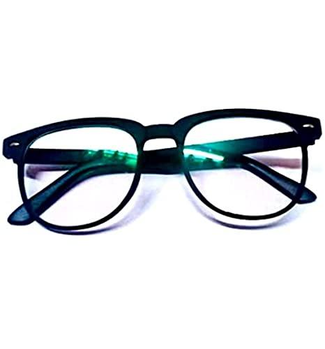 RK CREATION Antiglare Blue Ray Cut & UV Eye Protection Unisex Spectacle Frame Sunglasses For Men, Women, Boys, Girls.(Computer Glasses)… MADE IN INDIA (Black)