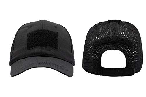 Acme Approved Tactical Multicam, Head Caps for Men, Baseball Caps, Military Caps Outdoor Apparel, Fitted Cap for Men and Women with Velcro Patch - One Size Fits All Black