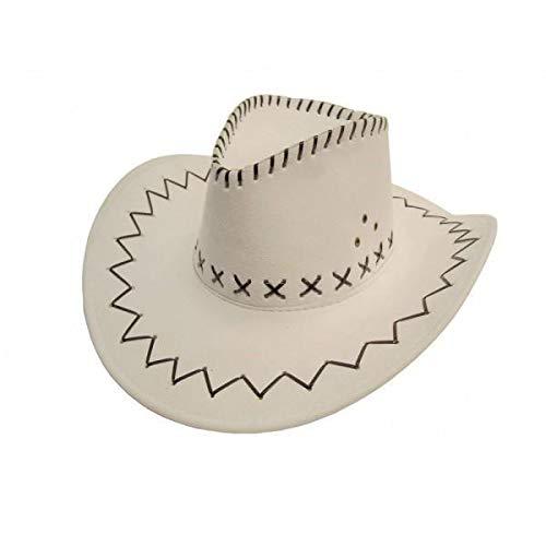 Party Pro 86010006 Chapeau de buffle Blanc Multicolore