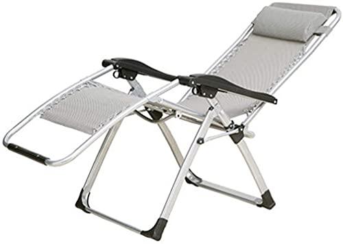 TANKKWEQ Sillón de Silla de jardín reclinable con reposacabezas Cero sillas de Gravedad tumbonas tumbonas reclinable reclinable Ajustable Plegable para jardín rodamiento de Piscina