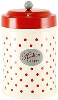 北欧 スウェーデン ストレームシャガ キャニスター缶 (レトロドット大) 623731