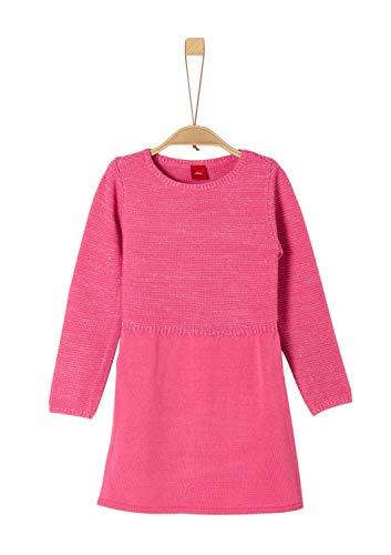 s.Oliver RED Label Mädchen Strickkleid mit Glitzer pink 98.REG