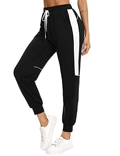 Aibrou Pantalones Chandal Mujer Verano Vestir Pantalón Deporte Algodón Largos Baratos con Bolsillos Pantalones Trekking para Gimnasio Correr Entrenamiento Jogging