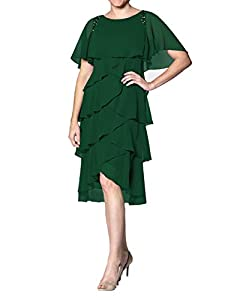 Features:A-Line ,Knee Length Style;Sleeveless;Cowl Neck;Beaded. Fabric: High quality chiffon fabric,comfortable to wear. Size Note: Different 1-3cm is allowed due to the different measurement method .When you received the items unsuitable for your bo...