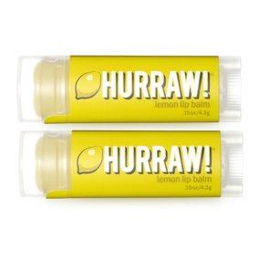 Hurraw! Lemon Lip Balm 2 Pack/Set