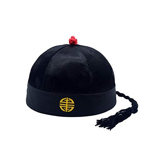 Ogquaton Hochwertige orientalische Kappe China Revival Hut Bühnenkostüm Halloween-Kostüm Erwachsene Nur Erwachsene 5 Größen-0-Dezember Haltbarkeit