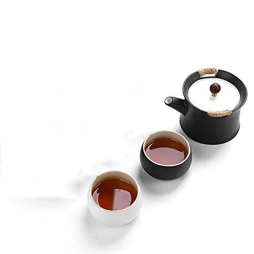 QCCOKNN Juego de té Kung Fu tetera de té gaiwan Juego de té de cerámica blanca Set de té