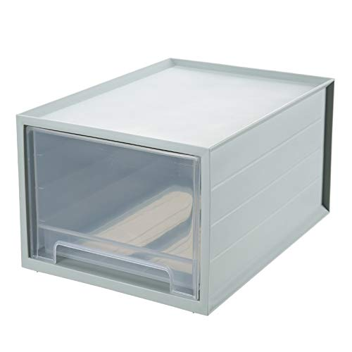 NOBRAND Caja de almacenaje Caja de Almacenamiento de Almacenamiento de los hogares de Almacenamiento de Escritorio de Oficina Tipo cajón Multifuncional (Color : Green, Size : Transparent Drawer)