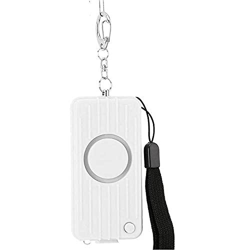 防犯ブザー 防犯アラーム 人気 子供 女性 防犯 USB充電 誘拐防止 (White)