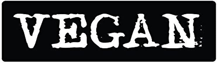 "Bumper Sticker for Cars, Trucks - Vegan - Professional Vinyl Decal | Made in USA - 3"" X 10"" 1 Car Magnet V6mag"