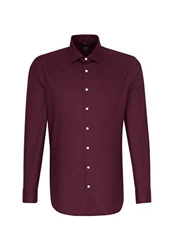 Seidensticker Herren Business Hemd – Passform Modern Fit – Langarm – Kent-Kragen - Einfarbig - 100% Baumwolle