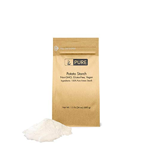 Potato Starch (1.5 lbs) by PURE, Gluten-Free, NON-GMO, All-Natural, Thickener For Sauces, Soup, & Gravy, No Added Preservatives Or Artificial Ingredients