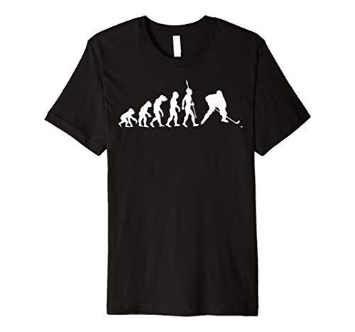 Eishockey Evolution T-Shirt Eis Hockey Spieler Mannschaft