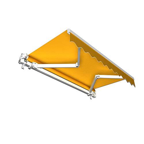 jarolift Gelenkarmmarkise Basic Balkonmarkise Sichtschutz für Terrasse, 300 x 250 cm (Breite x Ausfall), Gelb Uni