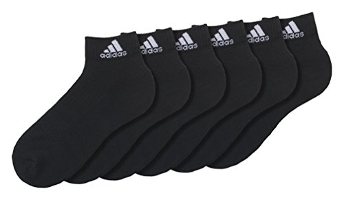 adidas Knöchelsocken Socken 3S Per An Hc 6P, Schwarz, 43-46