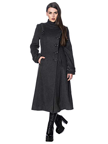 Banned Alternative Mantel Industrial Coat YBN6076 Grau S