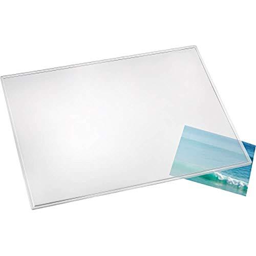 Läufer 43740 Durella transparent matt, durchsichtige Schreibtischunterlage 50x70 cm, transparente Schreibunterlage für hohen Schreibkomfort