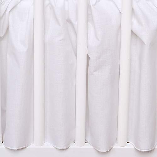 Bettvolant Betthusse Spannbetttuch Baumwolle Spannbettlaken für Babybett 60x120cm