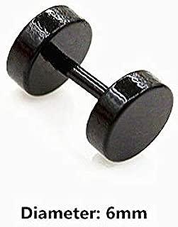 1 Pair Magnet Fake Cheater Barbell Ear Plug Tunnel Earring Ear Stud Piercing   Diameters - 6mm   Dumbbell  