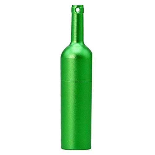 Demarkt geheugenstick 16 GB, rode wijn fles USB-stick geheugenstick USB 2.0-pen drive USB Flash drive cadeau voor familie en vrienden 32GB groen