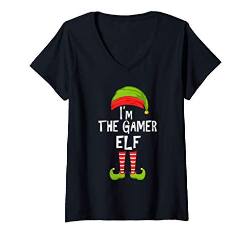 Mujer Soy el duende de los juegos que hace juego con el pijama de Camiseta Cuello V