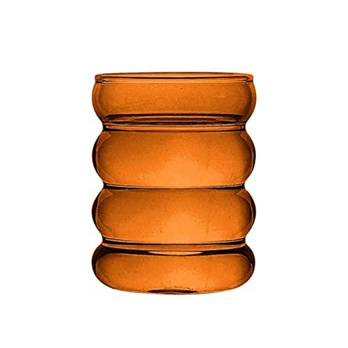 Gazechimp Vasos de Vasos Novedosos [Juego de 1] - Vasos para Beber para Agua, Jugo, Cerveza, Vino Y Cócteles | Tazas de 300ml - Marrón, Individual