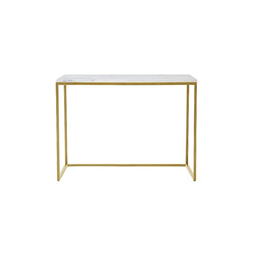 CSQ Rectangular Marble Coffee Table, with Metal Frame Side Table Cafe Restaurant Bar Table Corridor Console Table,1003076CM(Size:1003076CM,Color:B)