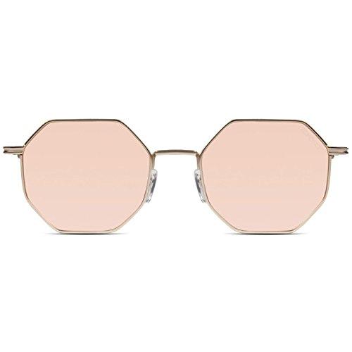 Komono dames zonnebril MONROE, maat: ONESIZE, kleur: roze, kleur:ROSE GOUD MIRROR