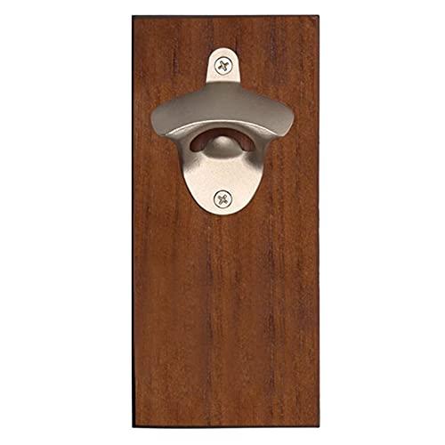 HNGM Abrebotellas de Pared Abrelatas de la botella de vino magnética de la botella de madera de la pared montada en la pared abridores de cerveza de la cerveza Vintage Fridge Sticker Herramientas de l