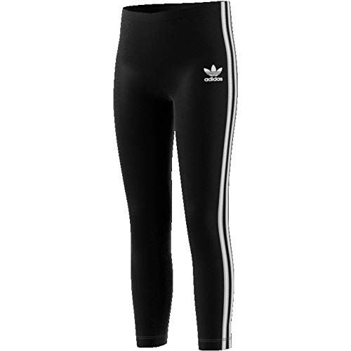 adidas Mädchen Tights Leggings, Black/White, 3-4Y, ED7737