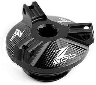 MUJUN Reserve Motorrad Zubehör M20 * 2,5 CNC Motorölablassschraube Sump Nut Cup Stecker Abdeckung for Kawasaki Z900 2017 2018 2019 Z900 Logo (Color : Black)