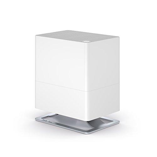 Stadler Form Luftbefeuchter Oskar little, energiesparender Raumbefeuchter für Räume bis 30 m², leiser Verdunster mit Abschalt-Automatik, dimmbare LEDs, weiss