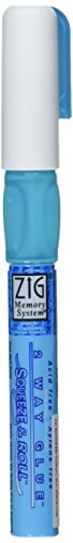 EK Tools Zig Memory System 2-Way Squeeze and Roll Glue Pen, New Package
