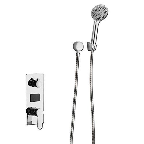 G1/2 LCD-Digital Dusche, Thermostat Unterputz Duschkopf Duscharmatur Brauseset Kopfbrasuse Duschpaneel