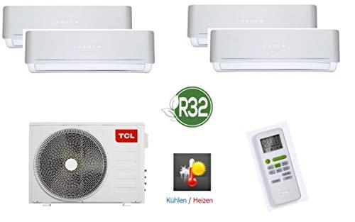 TCL 4 in 1 Quattro Split-Klimaanlage Kühlen, Heizen, Ventilieren und Entfeuchten, 36.000 BTU/8,2KW, mit Kältemittel R32, ohne Quick Connector, geeignet für Serverräume