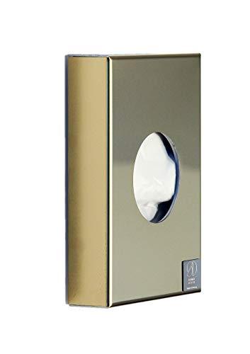Schönbeck Design Hygienebeutelspender Edelstahl goldfarben poliert - hochwertige Ausführung