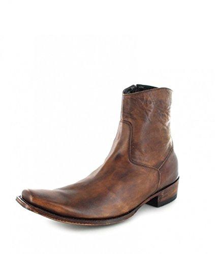 Sendra Boots Unisex Stiefelette 7438 Natural Lederstiefelette Westernstiefelette Braun 41 EU