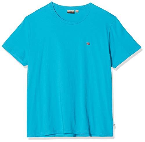 Napapijri Herren SELIOS 2 T-Shirt, Türkis (Reef Turquoise I711), X-Large (Herstellergröße:XL)