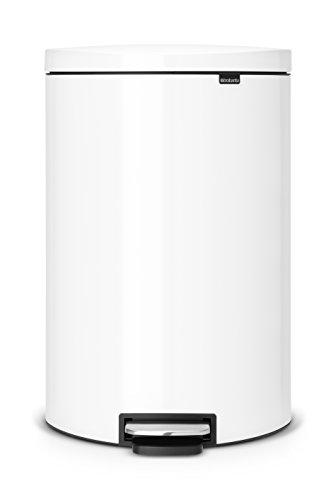 FlatBack+ Treteimer 40 L Silent mit Kunststoffeinsatz / White