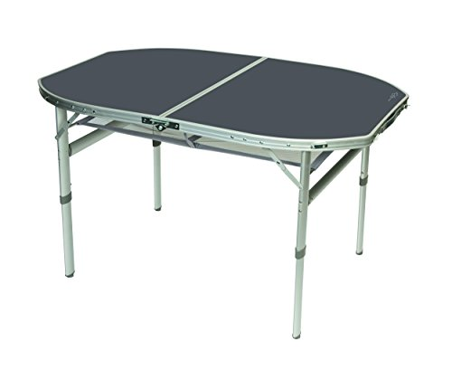 Aluminium klaptafel, 120 x 80 cm, campingtafel, vouwtafel, koffertafel, hittebestendig, waterbestendig