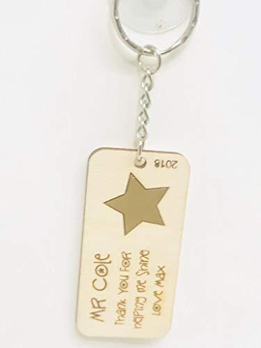FSSS Ltd - Llavero Grabado Personalizado Estrella
