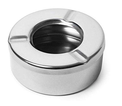 Windproof Ashtray Stainless Steel Ashtray with Lid