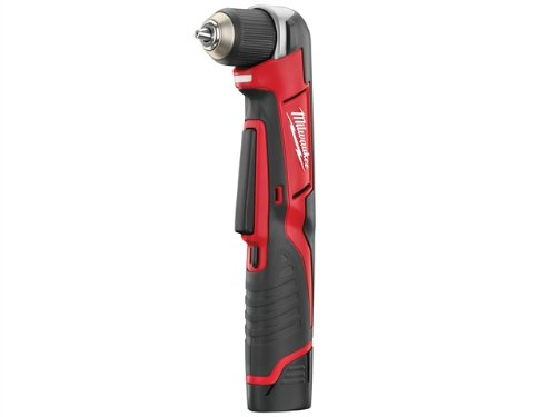 Milwaukee C12RAD-202C M12 Compact Right Angle Drill with 2 x 2.0Ah Li-ion Batteries/ BMC/ Charger