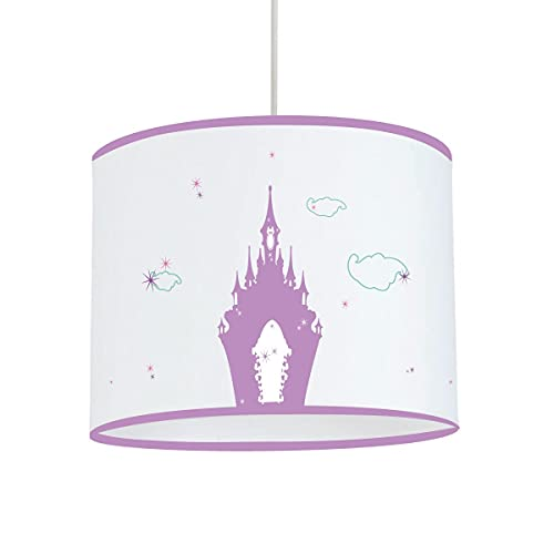 LILI - Lámpara de techo con diseño de estrellas, color lila, diámetro 25 cm