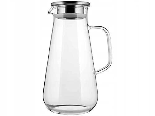 Tetera de cristal con tapa, apta para lavavajillas, microondas, frigorífico, transparente, moderna,...