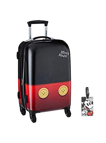 American Tourister Disney Mickey Mouse Pants Hardside Spinner 21 with Matching ID Tag