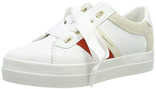 GANT FOOTWEAR AURORA, Damen Slip On Sneaker, Weiß (bright white G290), 39 EU (6 UK)
