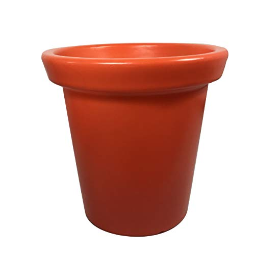 Plast'Up Rotomoulage Pot de Fleurs Delight 75 L Orange, H: 60 cm